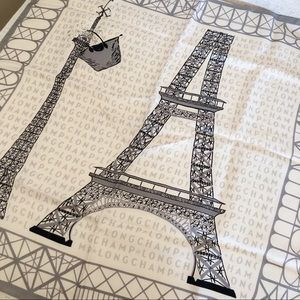 Longchamp Eiffel Tower Square Scarf